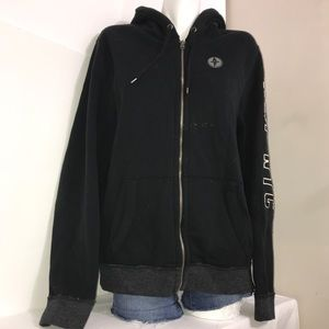 Abercrombie & Fitch Black Muscle Soft ZipUp Hoodie